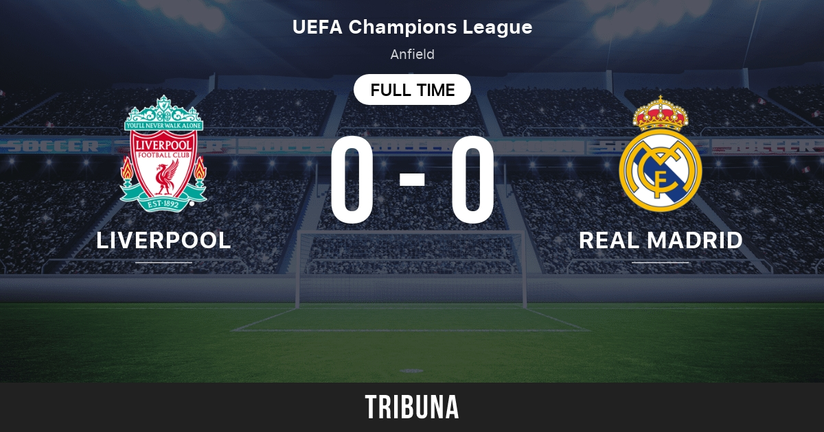 Liverpool vs Real Madrid: Live Score, Stream and H2H ...